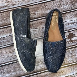 Toms Sparkly Glitter Flats